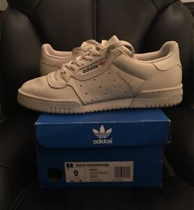 Yeezy Powerphase Calabasas OG White Size 9 With Box