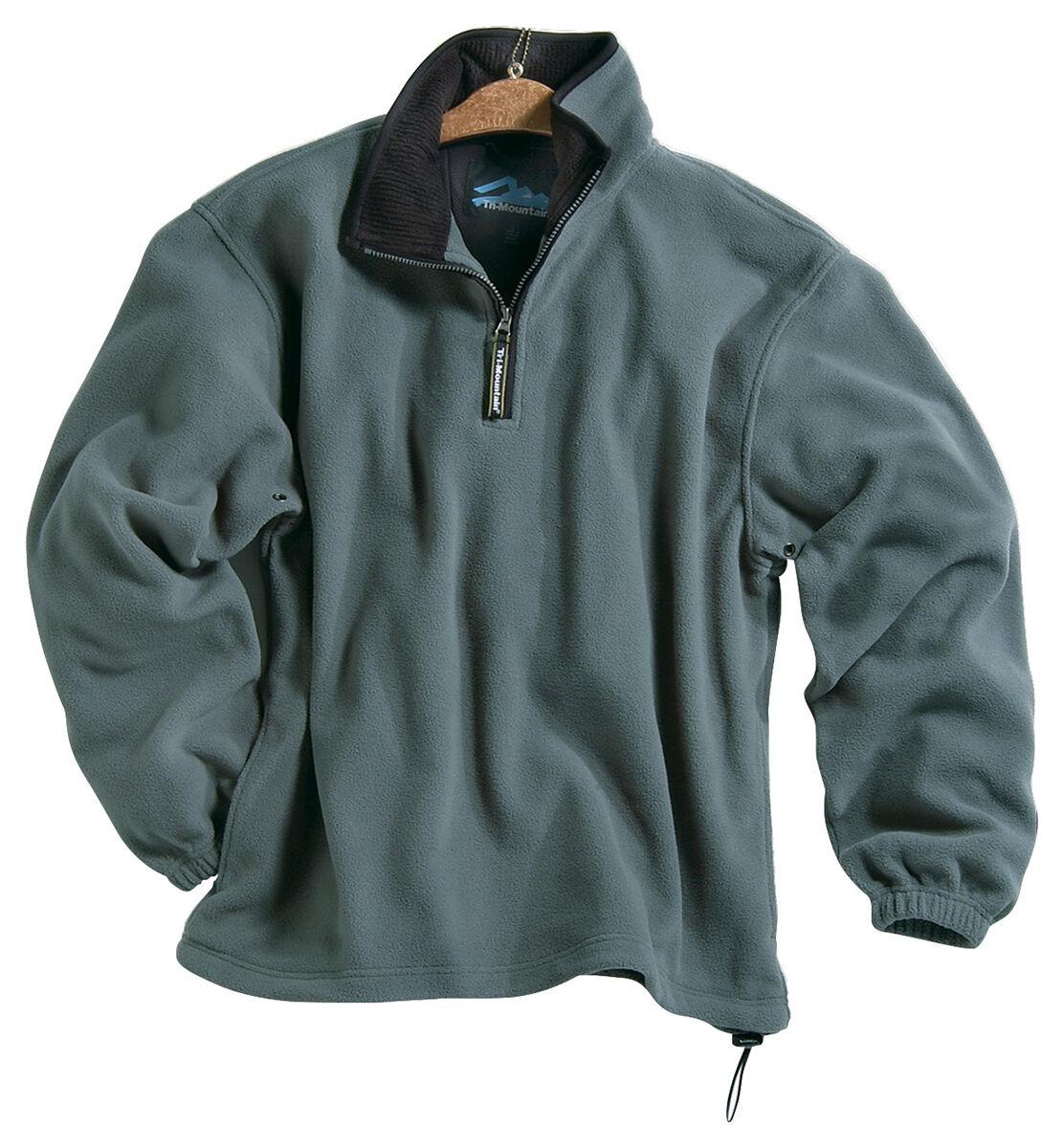 Tri Mountain New Mens Polyester Micro Fleece 1 4 Zip