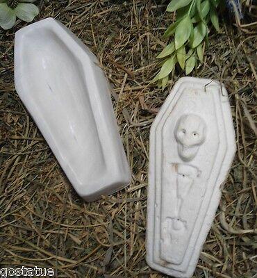 2 piece coffin plastic mold concrete plaster Halloween casket casting mould (Plastic Coffins)