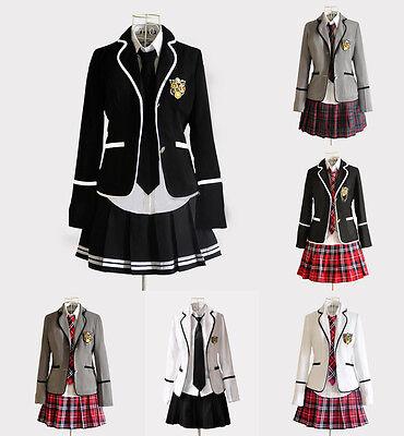 Cosplay Kostüm Lolita Marine Manga Schul-Uniform Student Japan Britisch - Britische Marine Kostüm