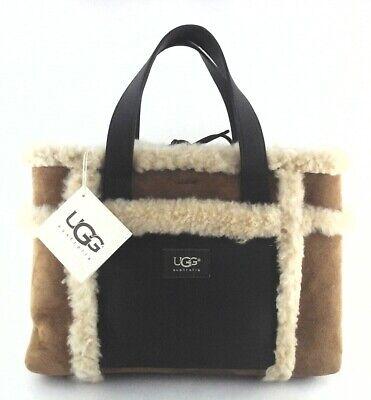 UGG AUSTRALIA Grab Bag Purse Sheepskin Chestnut Suede Tote Satchel Boho $250 New