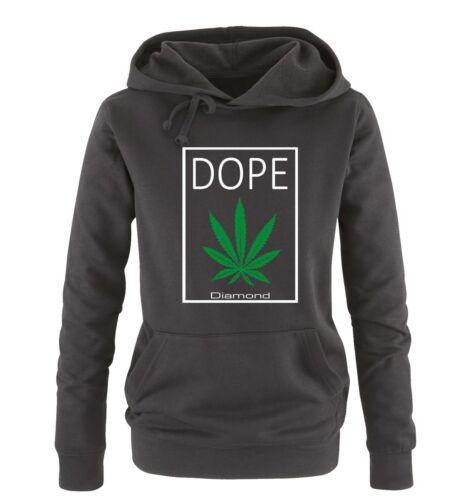 Comedy Shirts – DOPE Diamond – Hanf – Damen Hoodie – Gr. S-XL Versch. Farben
