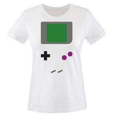 Comedy Shirts - GAMEBOY KOSTÜM - Damen T-Shirt | - Game Boy Kostüm