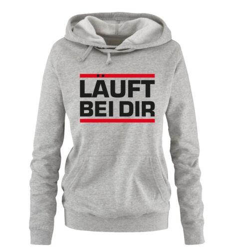 Comedy Shirts – LÄUFT BEI DIR – Damen Hoodie | Spruch Jugendwort Neu