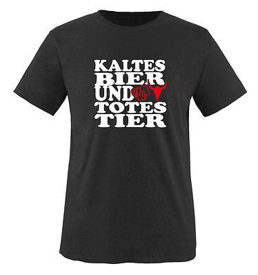 Kaltes Bier T-shirt (Kaltes Bier und totes Tier - Herren Unisex T-Shirt Gr. S bis XXL Versch. Farben)