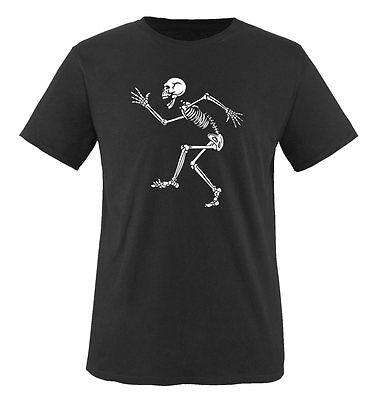 Comedy Shirts - TANZENDES SKELETT - Kinder T-Shirt | NEW COOL TREND (Kinder Skelett Shirt)