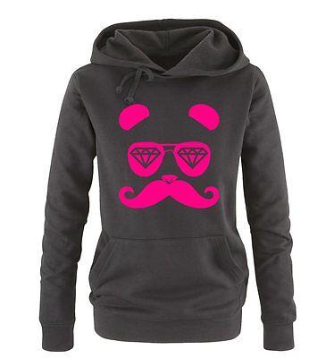 Dope Diamond Panda – Einfarbig – Damen Frauen Hoodie Gr. S – XL Versch. Farben
