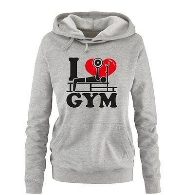 I Love GYM – Damen Frauen Hoodie Gr. S – XL Versch. Farben