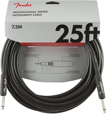 Fender Professional Series Instrument Cable - 25 Foot Straight to Straight