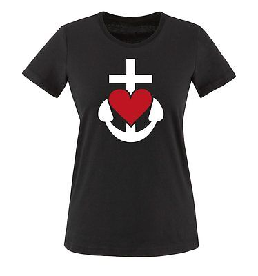 GLAUBE LIEBE HOFFNUNG - Damen Frauen T-Shirt Gr. XS bis XXL Versch. Farben - Liebe Damen Kleidung