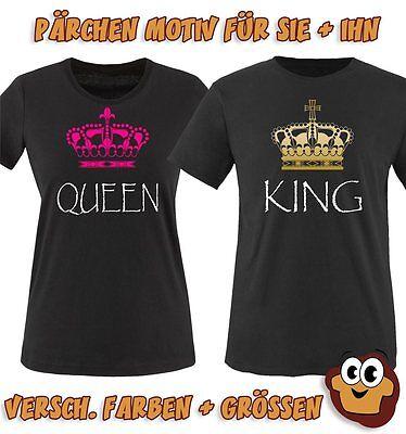 Pärchen T-Shirts   KING And QUEEN   Krone Damen und Herren   Liebe Love T Shirt - Liebe Damen Kleidung