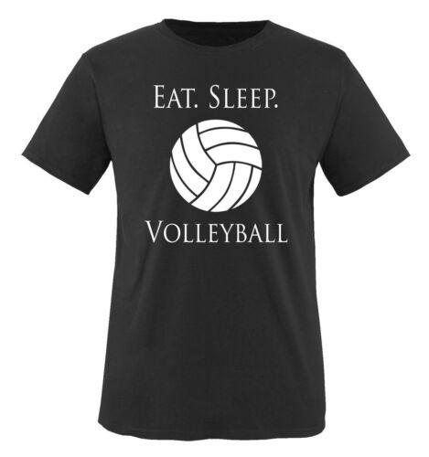 Comedy Shirts - EAT. SLEEP. VOLLEYBALL - Herren T-Shirt - Gr. S-XXL Versch. Farb