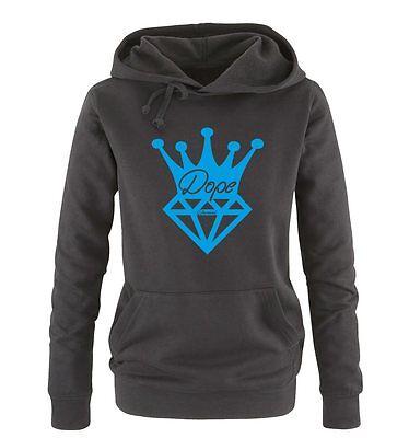 Dope Diamond Crown – Einfarbig – Damen Frauen Hoodie Gr. S – XL Versch. Farben
