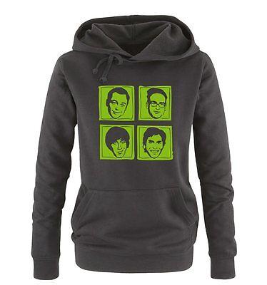 The Big Bang Theory – Gesichter – Damen Frauen Hoodie Gr. S – XL Versch. Farben