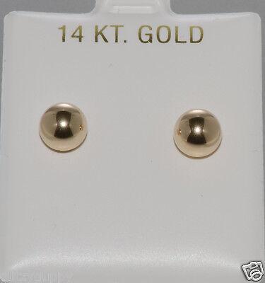 14k Yellow Gold Ball Stud Earrings High Polish Safety Backs 2mm-11mm  14k Yellow Gold Stud Earrings