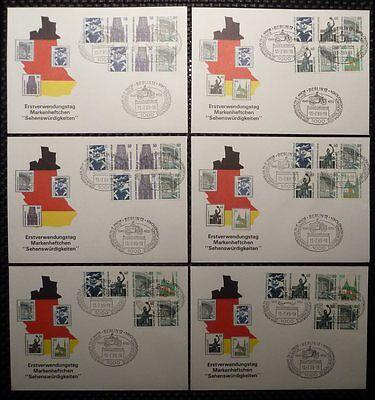 BERLIN ZUSAMMENDRUCKE W 83 / 98 SCHMUCK-FDC TOP! Mi 980.- + + h1083
