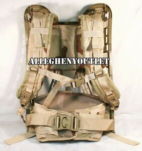 Military MOLLE II Rifleman DESERT TAN FRAME, SHOULDER STRAPS & BELT 4th Gen