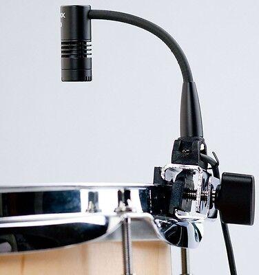 Audix F90 Miniature Clip On Condenser Drum Microphone Gooseneck NEW Rim Clamp (Miniature Cardioid Condenser Gooseneck Microphone)