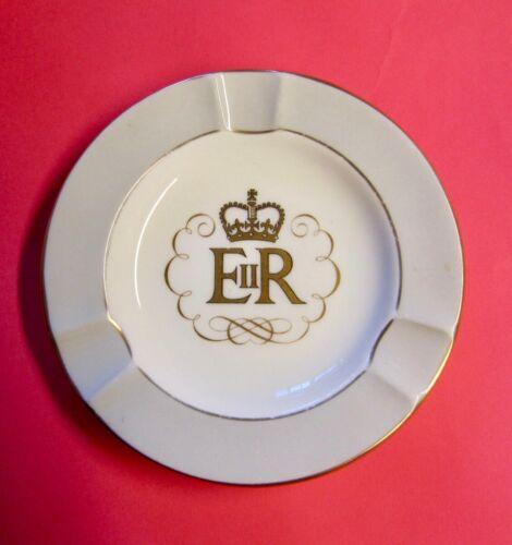 Queen Elizabeth II 1953 Coronation Souvenir Porcelain Ashtray by Wedgwood