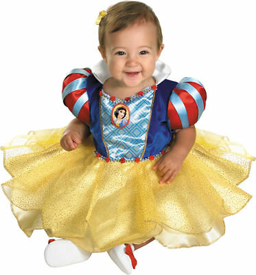 Morris Costumes Infants & Newborns Disney Snow White Dress Gold 12-18. DG50487W (Newborn Snow White Costume)