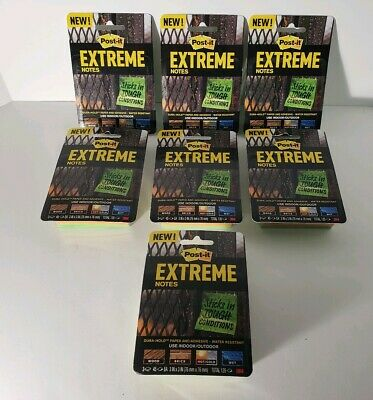 Post-it Extreme Notes - Lot Of 7 - 3 Pads Per Pack21 Pads Total