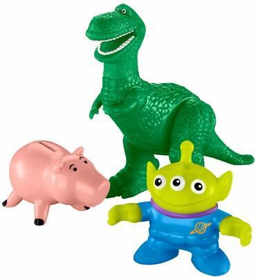 Disney Toy Story 4 Movie Imaginext Figures Rex Hamm & Alien Toy