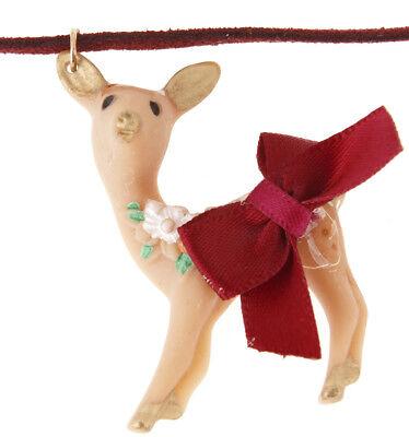 Killer Kirsche REHKITZ Deer Fawn Bow SCHLEIFE Halsband Retro NECKLACE Rockabilly