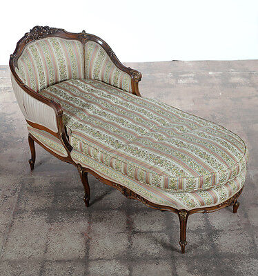 "19th century Louis XV ""Fabulous"" carved Mahogany French Chaise Lounge"