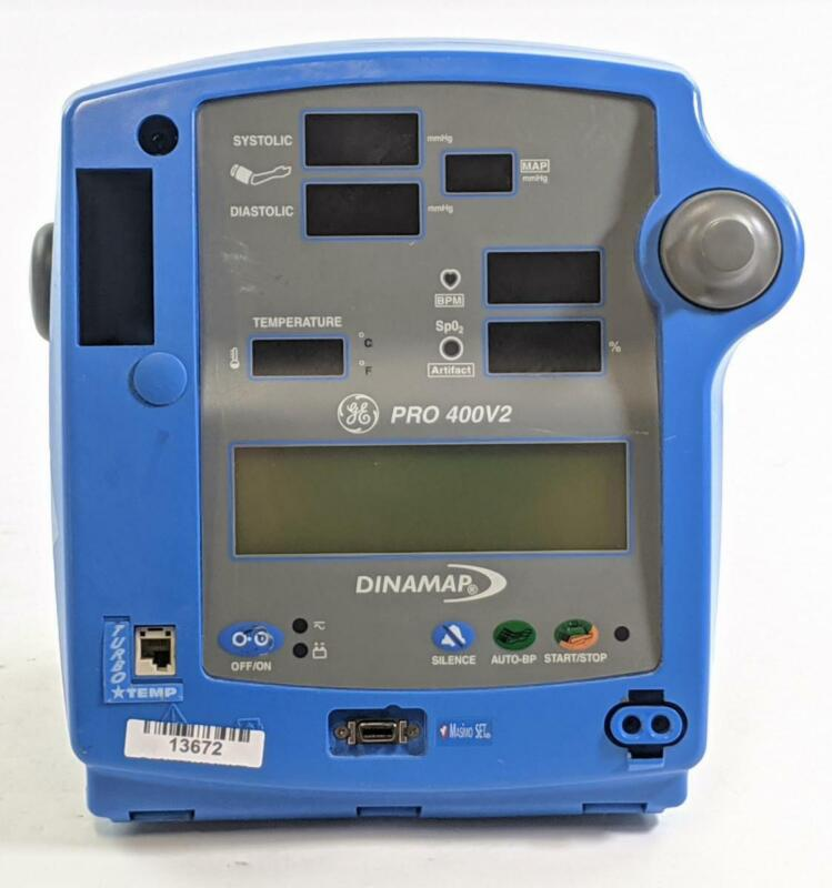 GE Dinamap Pro 400V2 Patient Monitor with Temp, SpO2, NIBP, and Printer