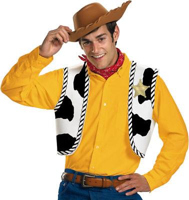 Morris Costumes Woody Hat Vest Bandana Toy Story Accessory Kit One Size. DG23433 (Woody Vest)