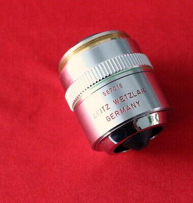 Leitz Wetzlar 567016 Pl Fluotar 20x 0.45 D 0 Objective Lens