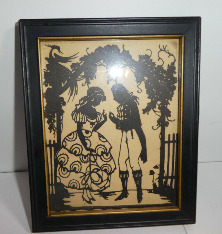 silhouette Framed Vintage Picture, The Proposal by Reliance, Makes a great gift