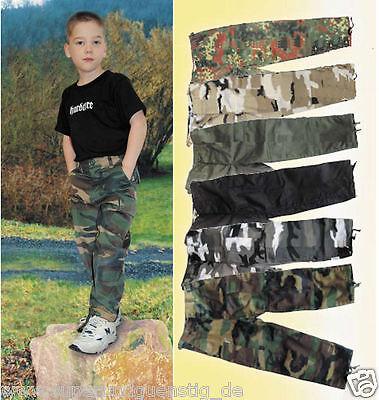 CI Kinder BDU - Pants Cargo Hosen Armee US Bundeswehr Army Style Farb/Größenwahl ()