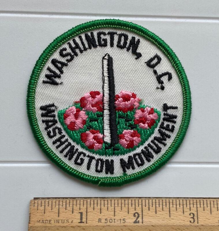 Washington DC Washington Monument Cherry Blossoms Souvenir Embroidered Patch