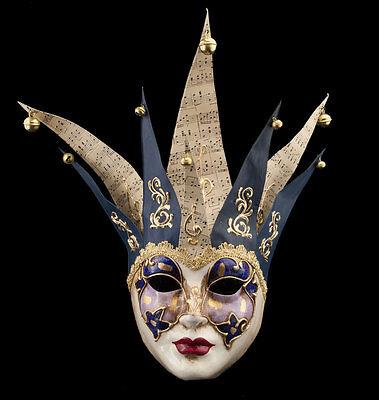 Mask from Venice Joker Jolly Authentic Paper Mache -mask Venetian 1990-E9