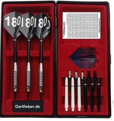Dartfieber Soft Steel Dart Pfeile Dartpfeil Chrom SET 18 Gramm