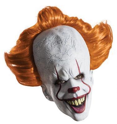 Stephen Kings Es Pennywise Deluxe Maske - Horror Clown Fasching Halloween (Clown Pennywise Kostüm)