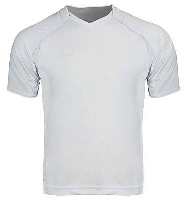 d82aba21e (Adult XXL/2XL) Mens White Admiral Plata Futbol Soccer Jersey Goalie Keeper