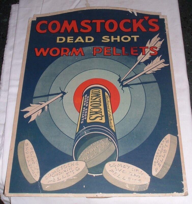 Antique C.1930 Counter Sign Patent Quack Medicine Comstock