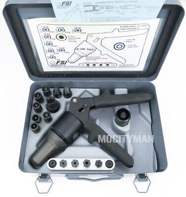 Fsi Riveter Rivet Gun Kit Hydraulic Model D-100-mil-1 Made In Usa