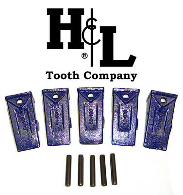 X156s Short Hensley Style Bucket Teeth 5 Pack Pins By Hl Tooth Co. 156