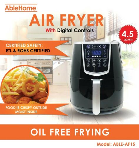 Electric Air Fryer 4.5 Qt 1350W Digital Timer Tempe Control