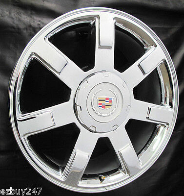 "22"" NEW 2010 2011 2012 Cadillac Escalade Chrome OEM GM Factory Spec WHEEL 5309 1"
