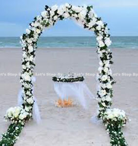 75 FT WHITE METAL ARCH For Wedding Party Bridal Prom