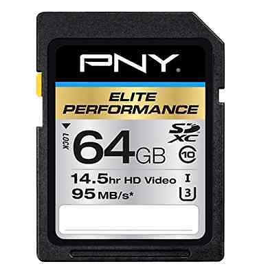 PNY Sd Sdhc Cards 64 Gb High Speed Sdxc Class10 Dslr Came...