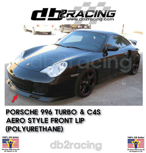01-05 Porsche 996 911 Turbo Carrera 4S AERO Front Bumper Lip (Urethane)