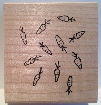 Inky Antics - Carrot Background - Wood Mounted Rubber Stamp Background Mounted Rubber Stamp