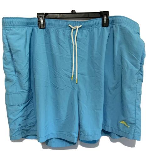 Tommy Bahama Mens Swim Trunks Cargo Board Shorts Naples Coast Breeze Blue 4XL Clothing, Shoes & Accessories