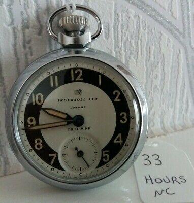 1963 INGERSOLL LTD LONDON TRIUMPH POCKET WATCH RUN FOR APPROX 33 HRS