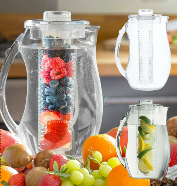 Fruit Infusion Pitcher Water Jug 2.7L With Ice Core & Flavour Infuser Cooler